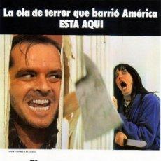 Cinéma: EL RESPLANDOR (GUIA ORIGINAL TERROR) JACK NICHOLSON - SHELLEY DUVALL DIRECTOR STANLEY KUBRICK. Lote 12642213