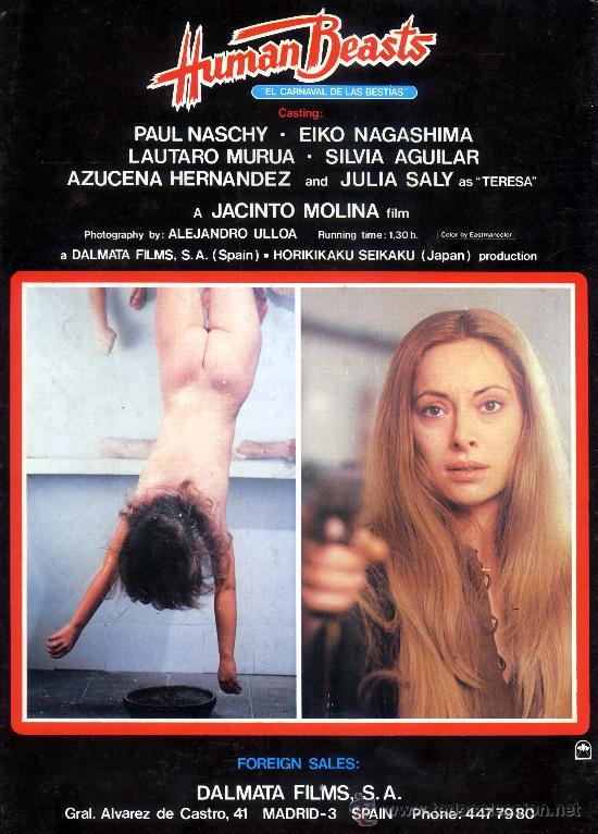 Cine: EL CARNAVAL DE LAS BESTIAS (GUIA ORIGINAL DE LUJO VER FOTOS) PAUL NASCHY TERROR DE CULTO - Foto 3 - 25200301