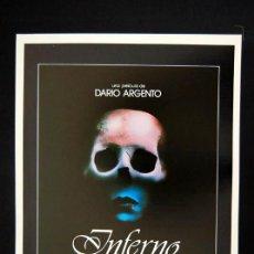 Cine: INFERNO GUIA PUBLICITARIA ORIGINAL DE ESTRENO DARIO ARGENTO ELEONORA GIORGI GABRIELE LAVIA. Lote 13410304