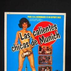 Cine: CALIENTES CHICAS DE MUNICH, LAS GUIA PUBLICITARIA ORIGINAL DE ESTRENO . Lote 13819397