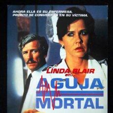 Cine: AGUJA MORTAL GUIA PUBLICITARIA ORIGINAL LINDA BLAIR. Lote 13833748