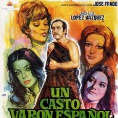 Cine: UN CASTO VARON ESPAÑOL (GUIA ORIGINAL DOBLE)JOSE LUIS LOPEZ VAZQUEZ-MIRTA MILLER-PATTY SHEPARD. Lote 143394436