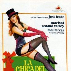 Cine: LA CHICA DEL MOLINO ROJO (GUIA ORIGINAL CON FOTOS DE SU ESTRENO EN ESPAÑA) MARISOL. Lote 143717633