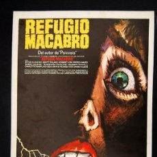 Cine: REFUGIO MACABRO GUIA PUBLICITARIA ORIGINAL DE ESTRENO PETER CUSHING MAC. Lote 13307218