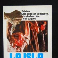 Cine: LA ISLA GUIA PUBLICITARIA ORIGINAL DE ESTRENO MICHAEL CAINE CIC. Lote 13312698