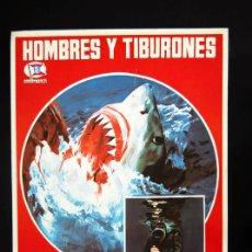Cine: HOMBRES Y TIBURONES GUIA PUBLICITARIA ORIGINAL DE ESTRENO BRUNO VAILATI SUEVIA FILMS. Lote 13313176
