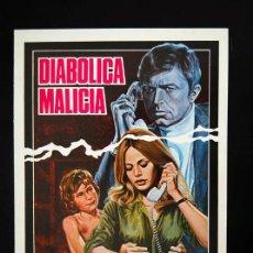 Cine: DIABOLICA MALICIA GUIA PUBLICITARIA ORIGINAL DE ESTRENO MARK LESTER BRITT EKLAND. Lote 13321596