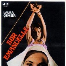 Cine: SOR EMANUELLE 1977 (GUIA ORIGINAL DOBLE DEL ESTRENO EN ESPAÑA CON MUCHAS FOTOS) LAURA GEMSER. Lote 207025123