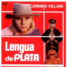 Cine: LENGUA DE PLATA (GUIA ORIGINAL DOBLE DEL ESTRENO EN ESPAÑA) CARMEN VILLANI - NADIA CASSINI. Lote 207112611
