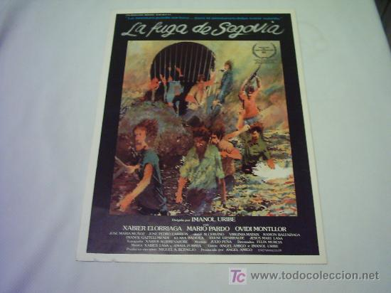 LA FUGA DE SEGOVIA GUIA ORIGINAL (Cine - Guías Publicitarias de Películas )