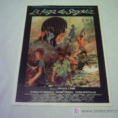 Cine: LA FUGA DE SEGOVIA GUIA ORIGINAL. Lote 13468497