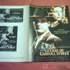 Cine: LA CASA DE CARROLL STREET GUIA ORIGINAL. Lote 13502829