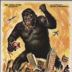 Cine: KING KONG. GUÍA PUBLICITARIA DE REY SORIA FILMS.. Lote 19450643