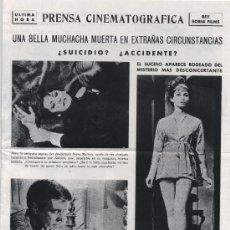 Cine: EL TERCER DÍA. GUÍA PUBLICITARIA DE REY SORIA FILMS.(ÚLTIMA HORA). Lote 19520719