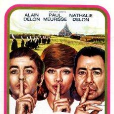 Cine: LA DULCE HEMBRA 1971 (GUIA ORIGINAL DOBLE) ALAIN DELON - NATHALIE DELON DIRECTOR JACQUES DERAY. Lote 143717506