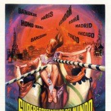 Cine: SUPERESPECTACULOS DEL MUNDO (GUIA ORIGINAL ESTRENO EN ESPAÑA) LOS SIREX Y SUS GUITARRAS ELECTRICAS. Lote 98838359