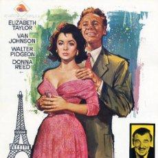 Cine: LA ULTIMA VEZ QUE VI PARIS (GIA ORIGINAL DOBLE CON FOTOS) ELIZABETH TAYLOR-VAN JOHNSON. Lote 128389352