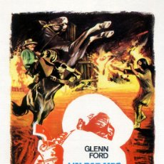 Cine: UN PARAISO A GOLPES DE REVOLVER 1969 (GUIA ORIGINAL) GLENN FORD - CAROLYN JONES - DAVID CARRADINE. Lote 221789566