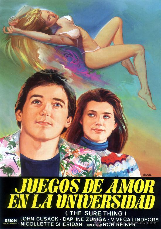 JUEGOS DE AMOR EN LA UNIVERSIDAD (GUIA ORIGINAL CON FOTOS) JOHN CUSACK - VIVECA LINDFORS (Cine - Guías Publicitarias de Películas )
