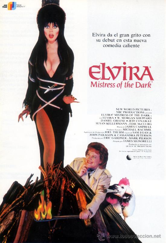 ELVIRA MISTRESS OF THE DARK (GUIA ORIGINAL DOBLE CON MUCHAS FOTOS) ELVIRA (Cine - Guías Publicitarias de Películas )