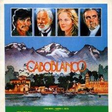 Cine: CABO BLANCO (GUIA ORIGINAL DOBLE) CHARLES BRONSON-FERNANDO REY-ALDO SAMBRELL. Lote 14094224