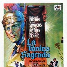 Cine: LA TUNÍCA SAGRADA (GUÍA ORIGINAL DOBLE CON FOTOS) RICHAR BURTON - JEAN SIMMONS - VICTOR MATURE. Lote 27186274