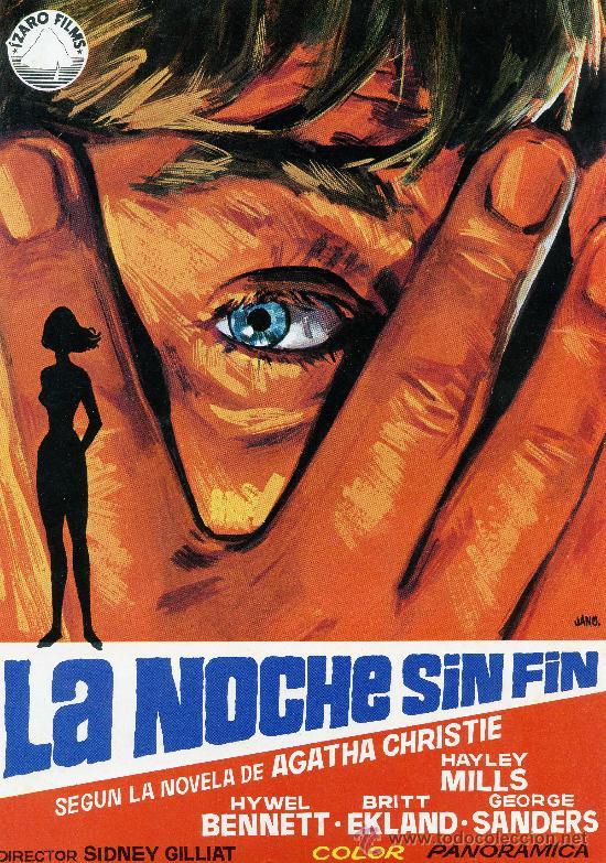 GUIA PUBLICITARIA DE LA PELICULA LA NOCHE SIN FIN (Cine - Guías Publicitarias de Películas )