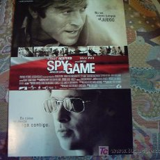 Cine: SPY GAME REDFORD BARD PITT GUIA ORIGINAL. Lote 14886696