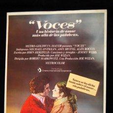 Cine: VOCES GUIA ORIGINAL DE ESTRENO AMY IRVING MICHAEL ONTKEAN 1979. Lote 14968975