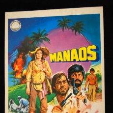 Cine: MANAOS GUIA ORIGINAL DE ESTRENO FABIO TESTI AGOSTINA BELLI. Lote 15053478