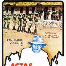 Cine: ACTAS DE MARUSIA (GUIA ORIGINAL SIMPLE) GIAN MARIA VOLONTE. Lote 211509389