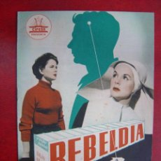 Cine: ANTIGUA GUIA CIFESA - REBELDIA - DELIA GARCES, FERNANDO FERNAN GOMEZ, FERNANDO REY. Lote 22974654