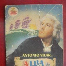 Cine: ANTIGUA GUIA CIFESA - ALBA DE AMERICA - ANTONIO VILAR, MERY MARTIN, AMPARO RIVELLES. Lote 15622777