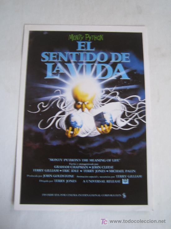 EL SENTIDO DE LA VIDA - MONTY PYTHON - GUIA PUBLICITARIA ORIGINAL DEL ESTRENO (Cine - Guías Publicitarias de Películas )
