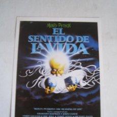 Cine: EL SENTIDO DE LA VIDA - MONTY PYTHON - GUIA PUBLICITARIA ORIGINAL DEL ESTRENO. Lote 15745748