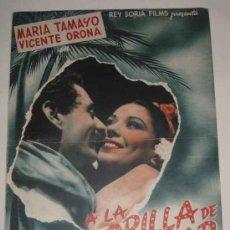 Cine: ANTIGUA GUIA DE LA PELICULA A LA ORILLA DE UN PALMAR, CON MARIA TAMAYO, VICENTE ORONA, DIRECTOR RAFA. Lote 15829503