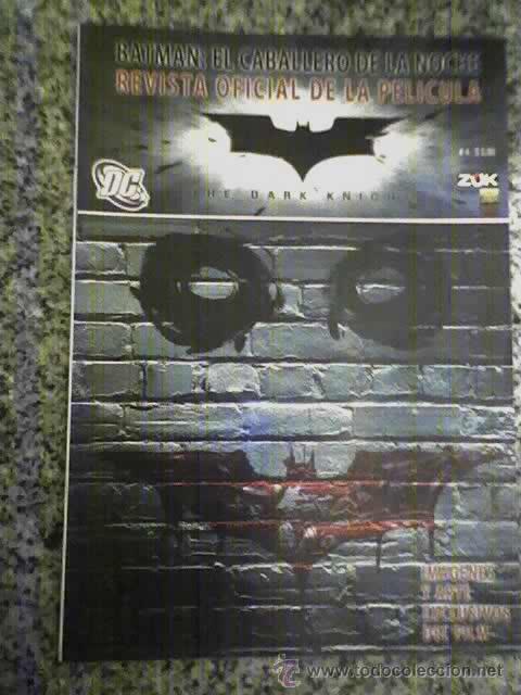 BATMAN EL CABALLERO DE LA NOCHE - REVISTA OFICIAL DE LA PELICULA (Nº 4) - ARGENTINA - 2008 (Cine - Guías Publicitarias de Películas )