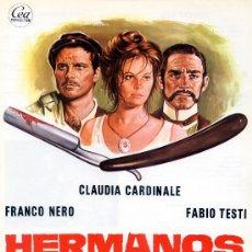 Cine: HERMANOS DE SANGRE (GUIA ORIGINAL SIMPLE) CLAUDIA CARDINALE - FABIO TESTI - FRANCO NERO. Lote 16163585