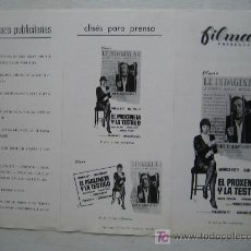 Cine: EL PROXENETA Y LA TESTIGO - MONICA VITTI - GUIA PUBLICITARIA ORIGINAL DEL ESTRENO. Lote 16177211