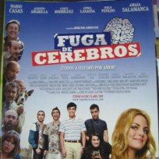Cine: FUGA DE CEREBROS - GUIA PUBLICITARIA ORIGINAL - MARIO CASAS AMAIA SALAMANCA. Lote 17052407
