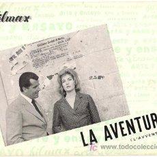 Cine: G3567 LA AVENTURA ANTONIONI MONICA VITTI GUIA ORIGINAL FILMAX ESTRENO. Lote 17605608