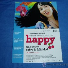 Cine: HAPPY. GUIA PUBLICITARIA DOBLE.. Lote 17866683