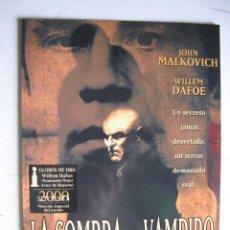 Cine: LA SOMBRA DEL VAMPIRO. Lote 47605640