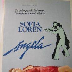 Cine: ANGELA - SOFIA LOREN - GUIA PUBLICITARIA ORIGINAL DEL ESTRENO . Lote 19173178
