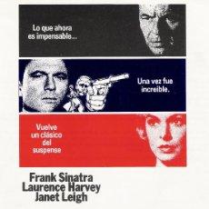 Cine: MENSAJERO DEL MIEDO, GUIA ORIGINAL SENCILLA, FRANK SINATRA. Lote 19549015