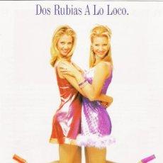 Cinéma: DOS RUBIAS A LO LOCO, GUIA ORIGINAL DOBLE DEL ESTRENO MIRA SORVINO. Lote 26964933