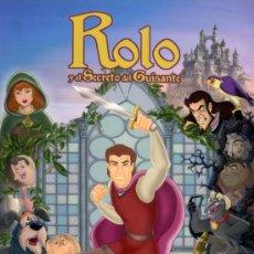 Cine: ROLO Y EL SECRETO DEL GUISANTE (GUIA ORIGINAL DOBLE DE SU ESTRENO EN ESPAÑA) DIBUJOS ANIMADOS. Lote 105876454
