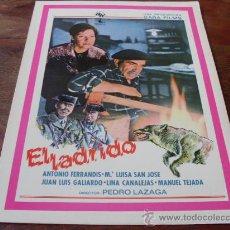 Cine: EL LADRIDO - ANTONIO FERRANDIS, MARIA LUISA SAN JOSE - GUIA ORIGINAL AÑO 1977. Lote 30327108