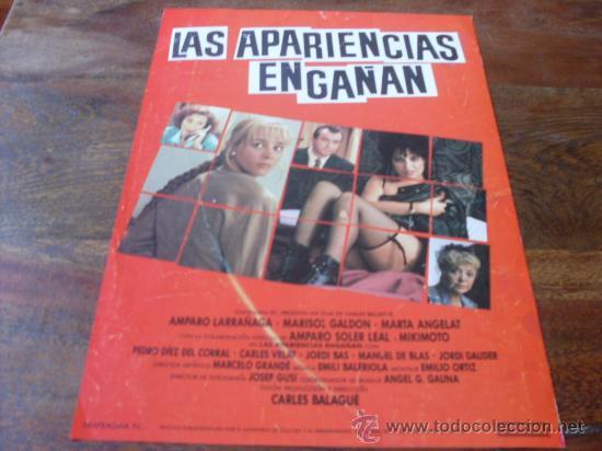 LAS APARIENCIAS ENGAÑAN - AMPARO LARRAÑAGA, MARISOL GALDON, AMPARO SOLER LEAL - GUIA (Cine - Guías Publicitarias de Películas )