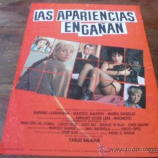Cine: LAS APARIENCIAS ENGAÑAN - AMPARO LARRAÑAGA, MARISOL GALDON, AMPARO SOLER LEAL - GUIA. Lote 20110482